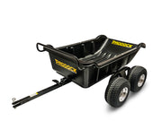 poly dump cart tipper trailer for quad bike