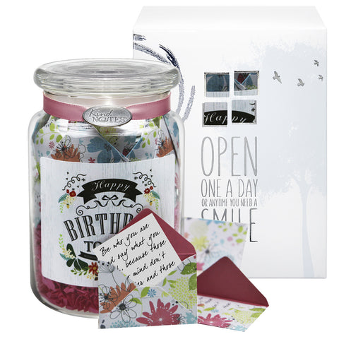 Happy Birthday Vintage Jar Of Notes For Her Or Girlfriend