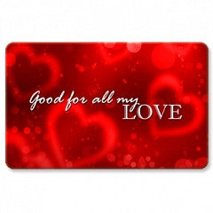 Keepsake Gift Cards All My Love Hearts