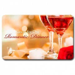 Keepsake Gift Cards Romantic Dinner