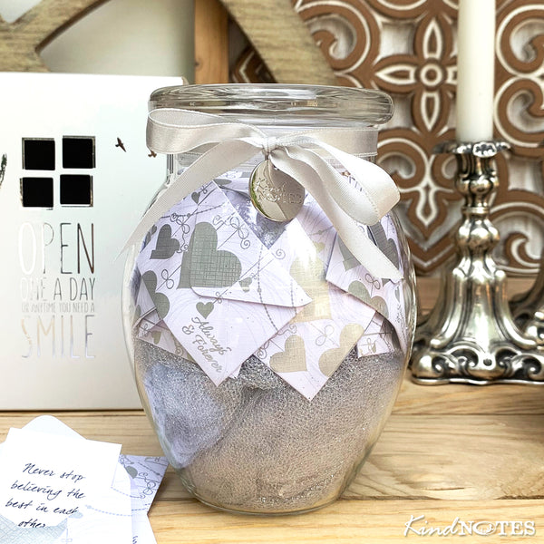 Always & Forever Jar of Notes Anniversary Gift for Her
