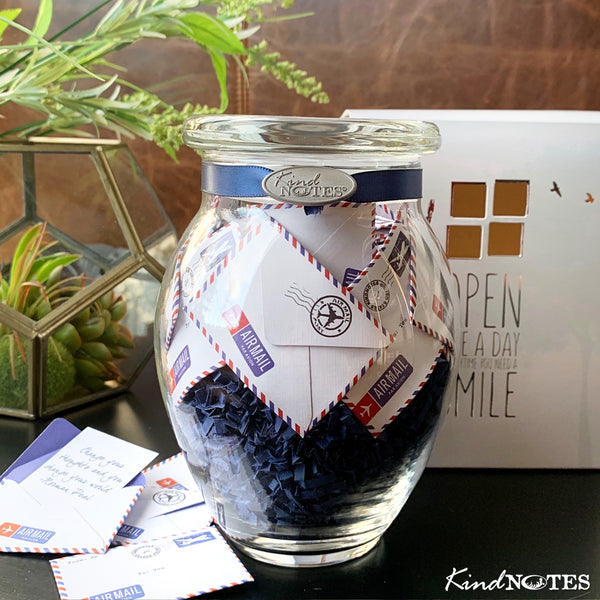 Airmail Jar of Notes