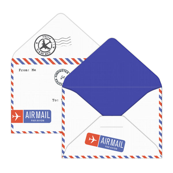 Airmail Mini Envelopes for Distance relationship