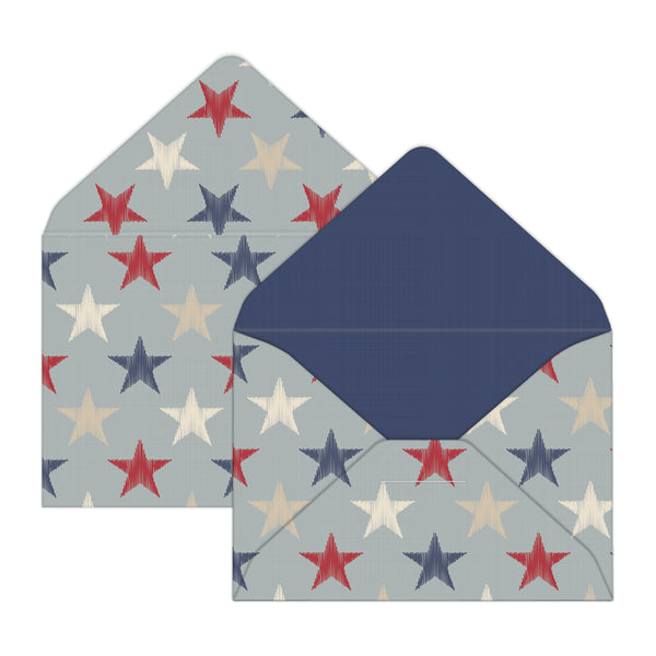 Americana Stars Mini Envelopes & Notes/Paper