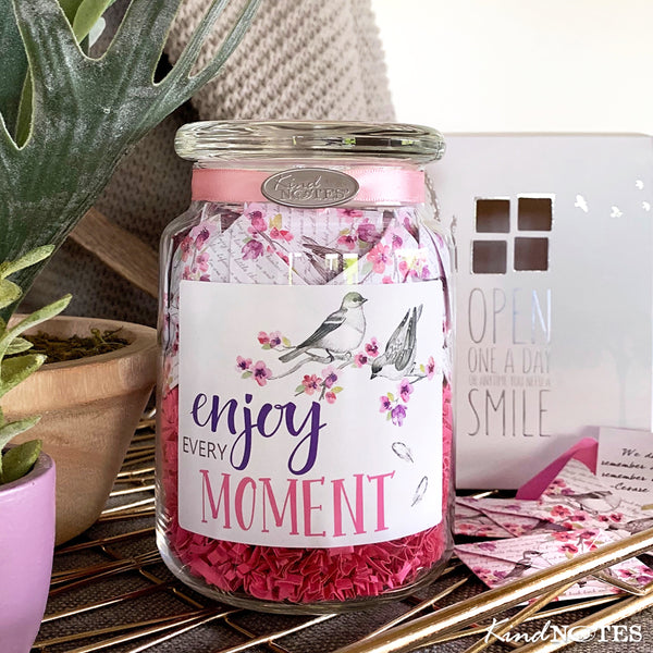 Enjoy Every Moment Jar of Notes