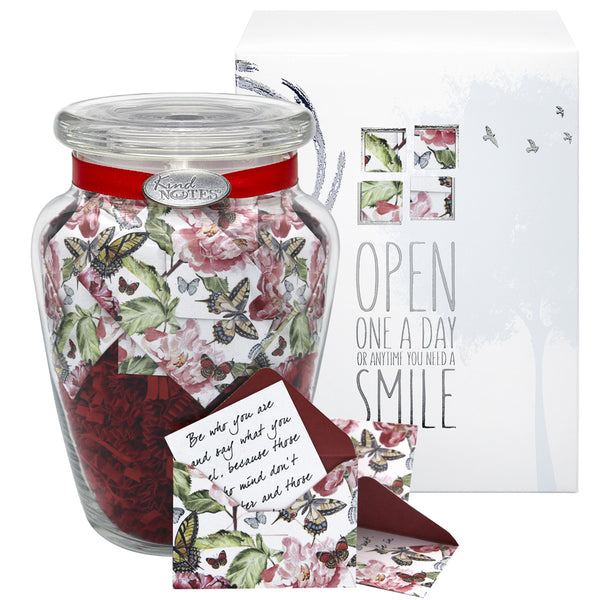 Butterfly Garden Jar of Notes