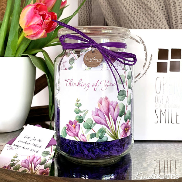 Botanical Thinking of You Jar of Notes