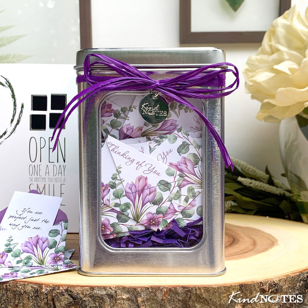 Botanical Thinking of You Tin Box of Notes