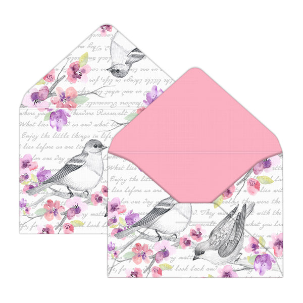 Birds and Flowers Mini Envelopes for Unique Gifts