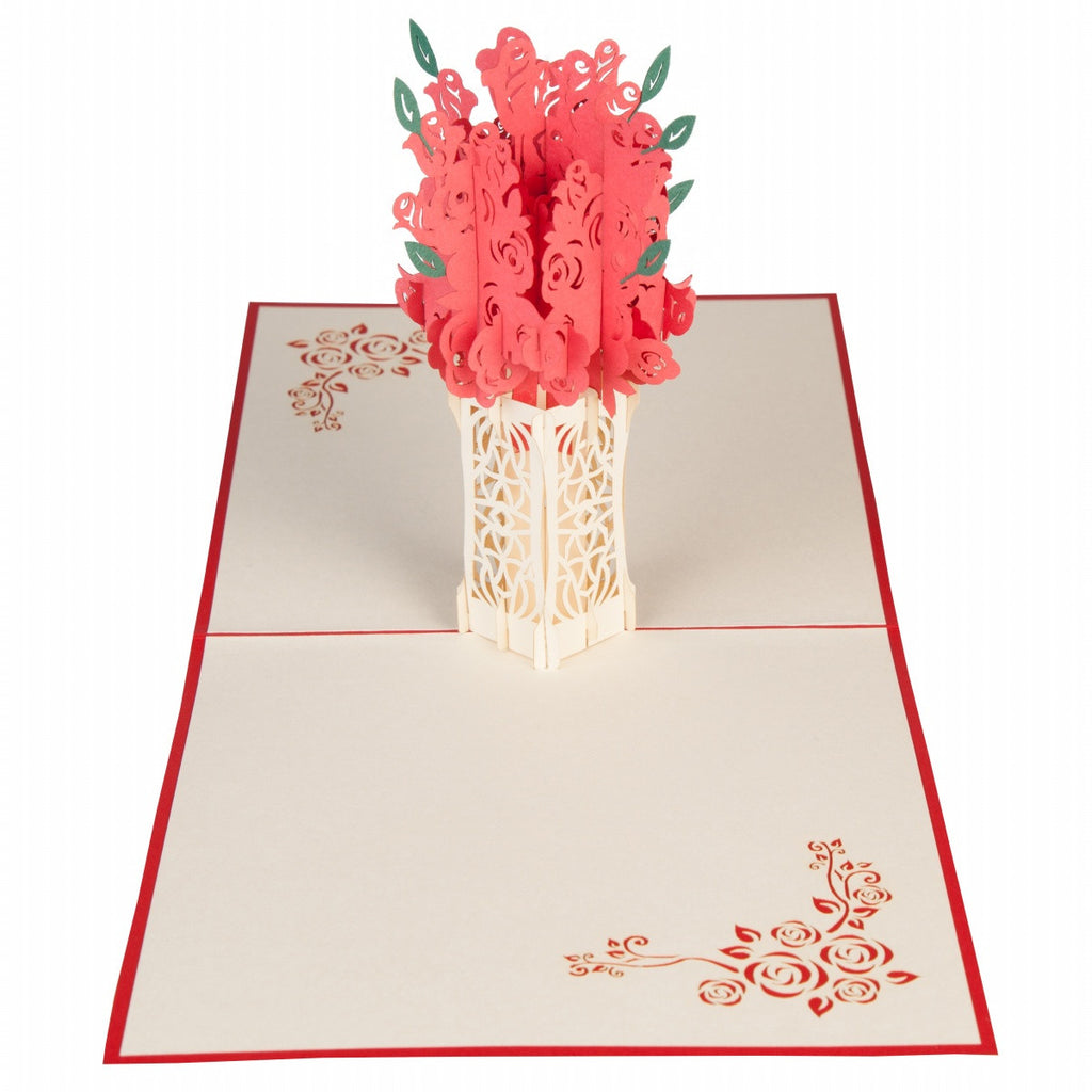 Floral Blooms Pop Up 3d Greeting Card Blank Card