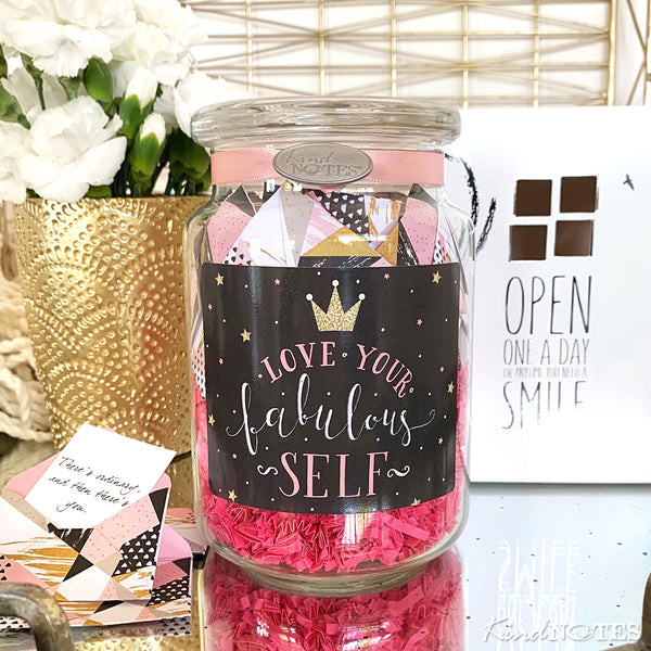 Love Your Fabulous Self Jar of Notes