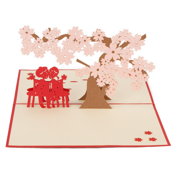 Cherry Blossoms Pop-Up 3D Greeting Card