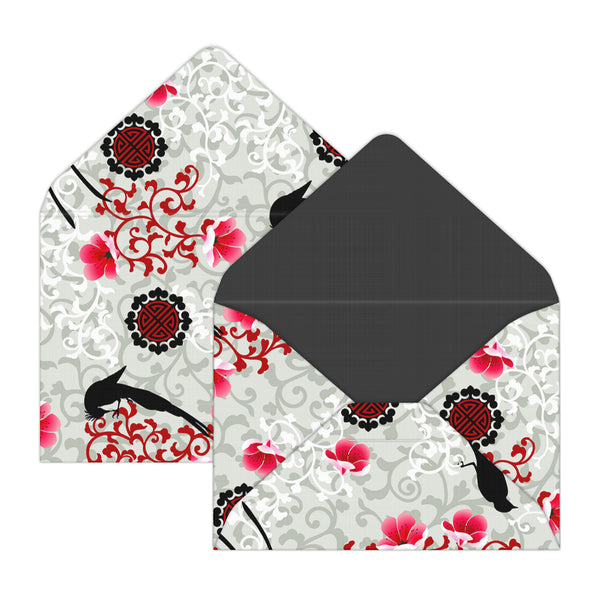 Cherry Blossoms Mini Envelopes for Valentine Gift