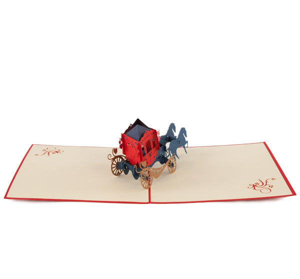 Fairytale Coach Pop-Up 3D Greeting Card