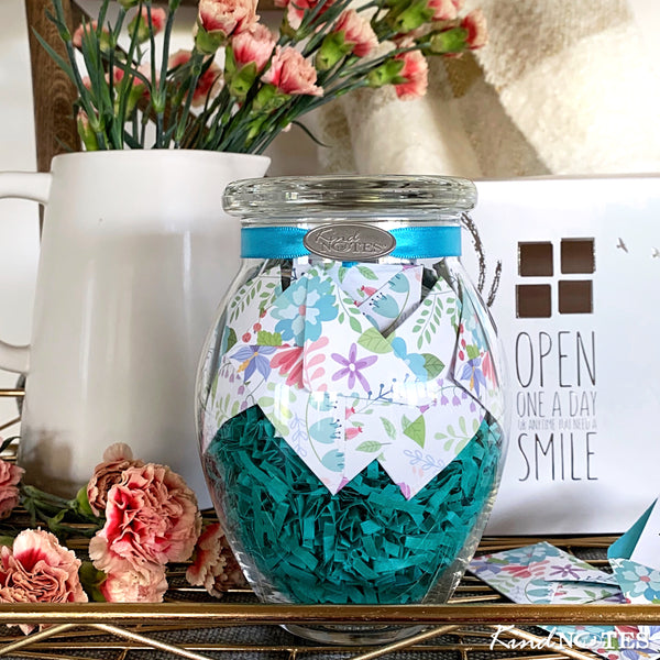 Fresh Cut Floral Jar of Notes