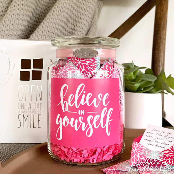 Floral Puffs Believe in Yourself Jar