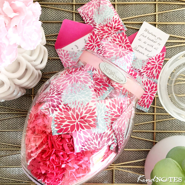 Floral Puffs Jar of Notes