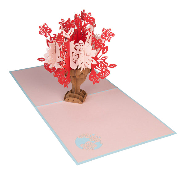 Floral Bouquet Pop-Up 3D Greeting Card