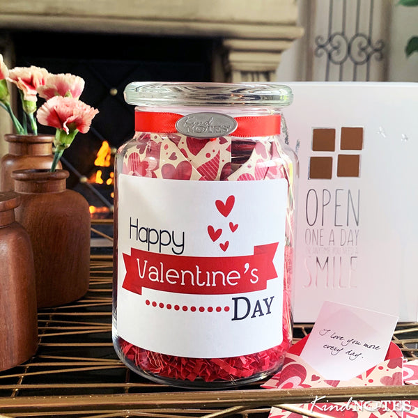 Heart Garden Valentine Jar of Notes