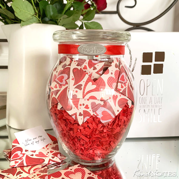 Heart Garden Jar of Notes