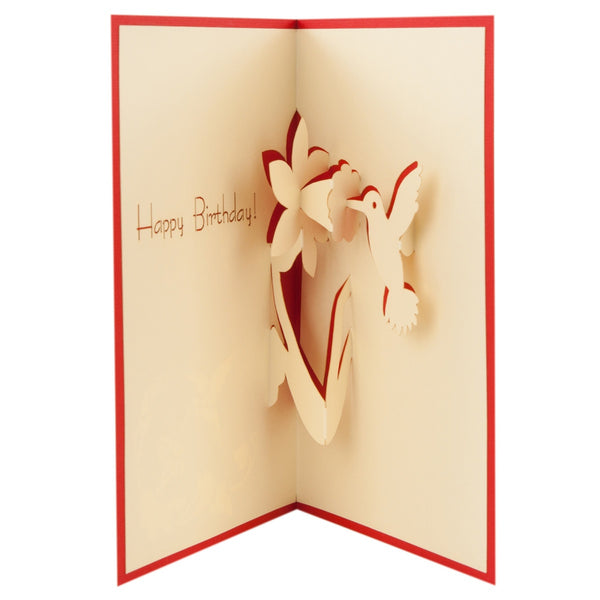 Pop up 3d greeting cards kindnotes unique gifts blooming birthday pop up 3d greeting card m4hsunfo