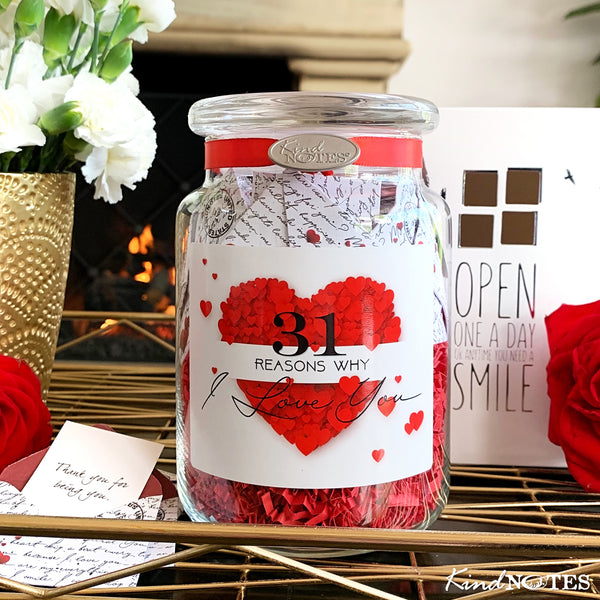 31 Reasons Why I Love You Jar of Notes