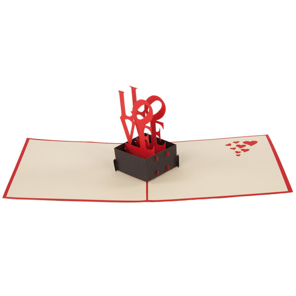 Love Pop-Up 3D Greeting Card