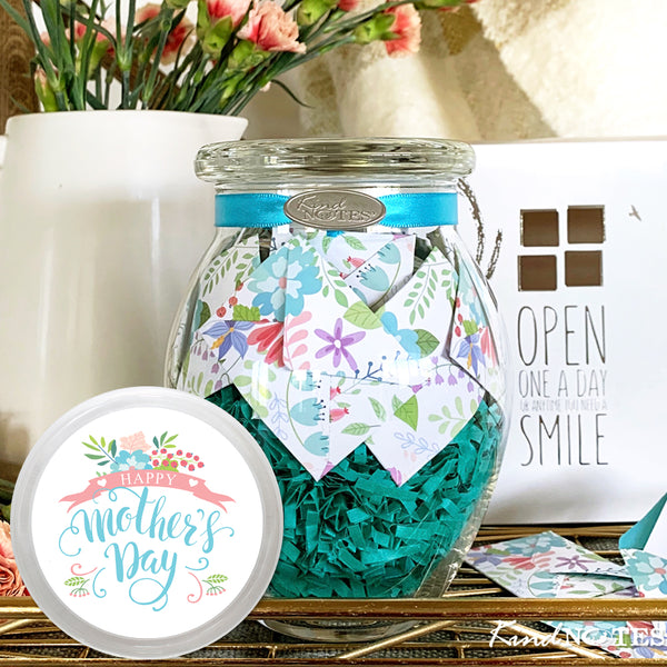 Happy Mother's Day Fresh Cut Floral Jar of Notes