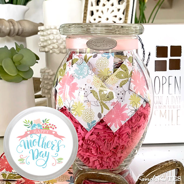 Happy Mother's Day Refreshing Floral Jar of Notes