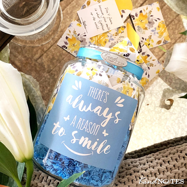 Reason to Smile Jar of Notes