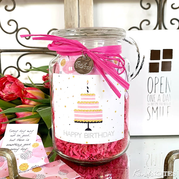 Birthday Cake Jar of Notes