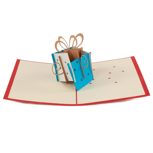 Birthday Present Pop-Up 3D Greeting Card
