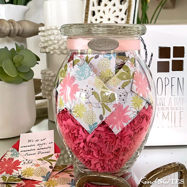 Refreshing Floral Jar of Notes (Pre-Order Only)