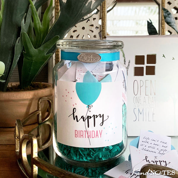 Simple Birthday Jar of Notes