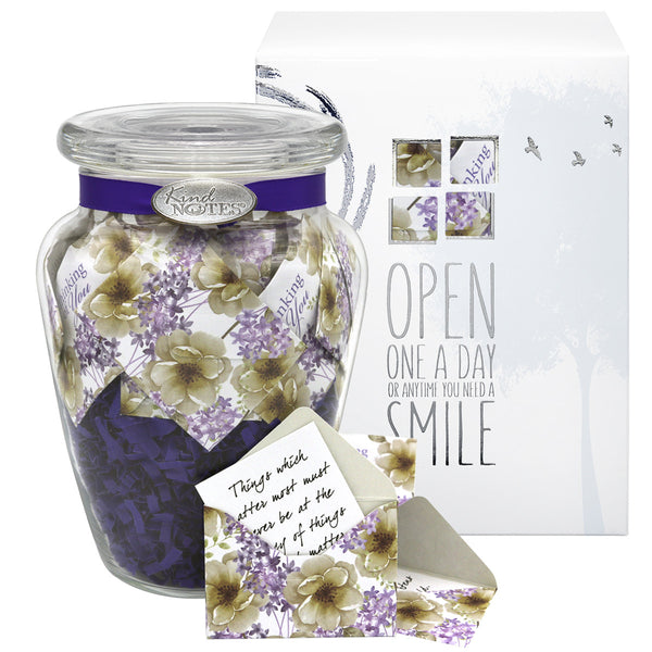 Violet Oasis Jar of Notes