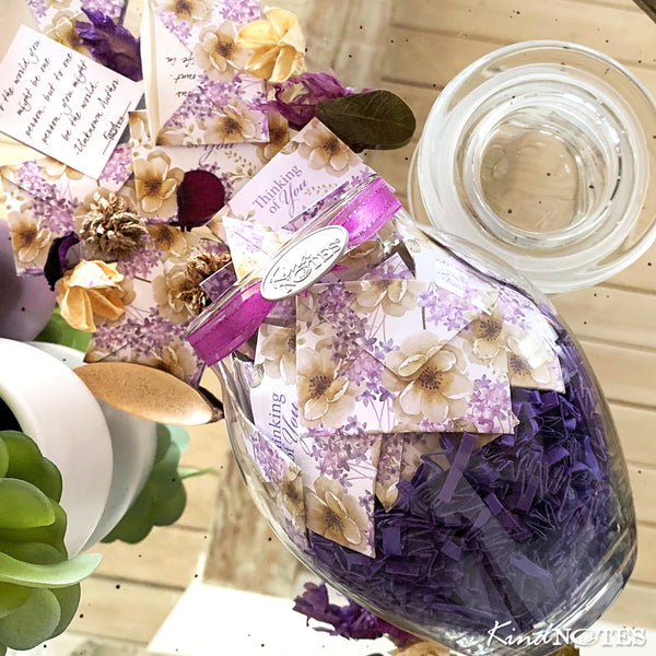 Scented Violet Oasis Jar of Notes