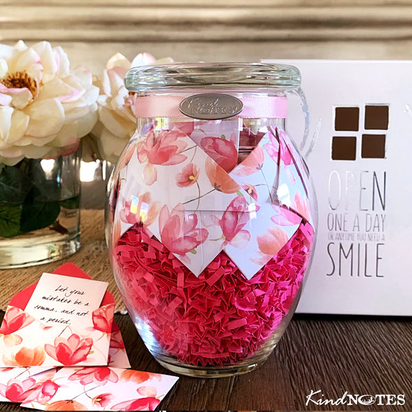 Watercolor Blooms Jar of Notes