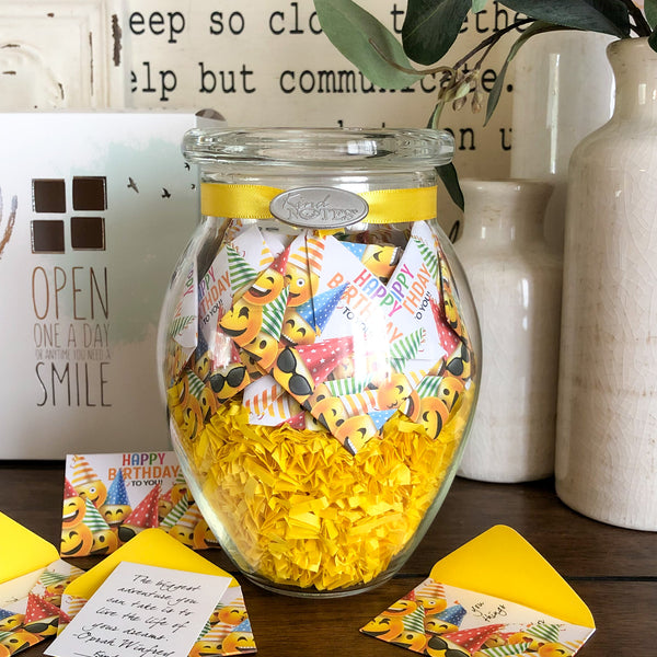 Birthday Emojis Jar of Notes