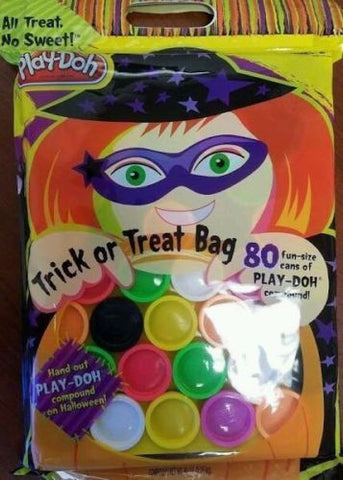 Playdough Trick Or Treat 80 Pack 1oz Cans Multicolor