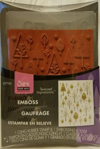 Sizzix Birds and Trees Embossing Stamp 657765