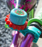 Volta Ring Bell Kid's Bike Accessory Teal and Red with Star