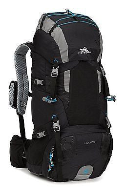 NEW High Siera Hawk 50 Hiking Back Pack Black and Pool