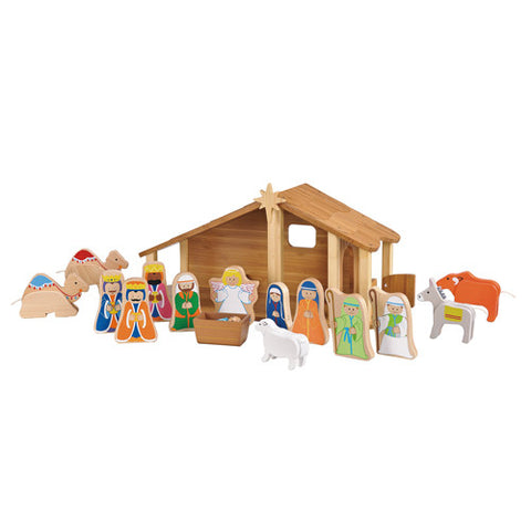 Maxim Bamboo Nativity Set