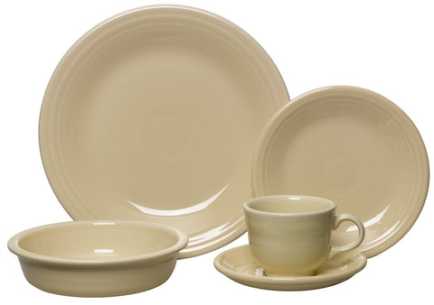 Fiesta 5 Piece Place Setting Ivory Collectable Dinnerware