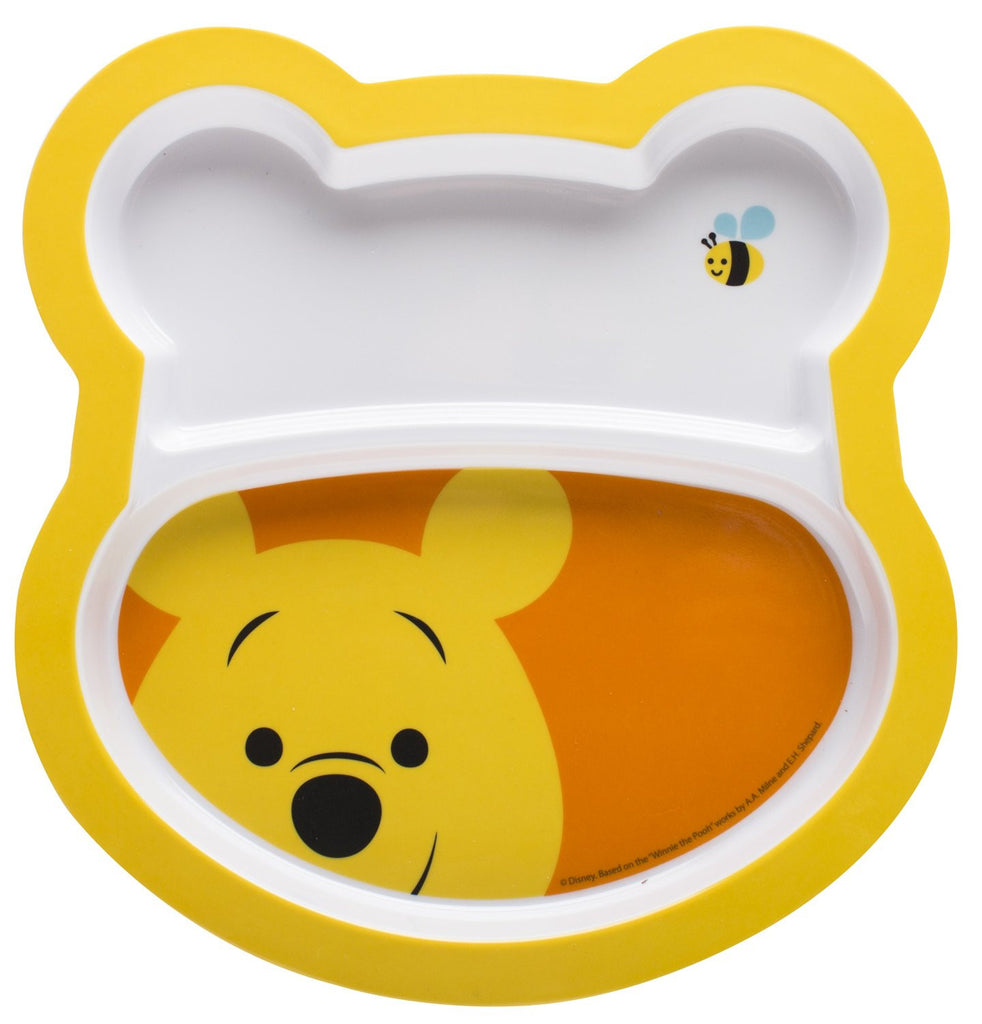 Zak - Winnie The Pooh 2 pk Divided Plates & Fork and Spoon Set