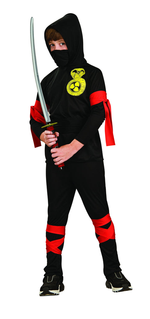Kid's Black Ninja Costume By Rubie's