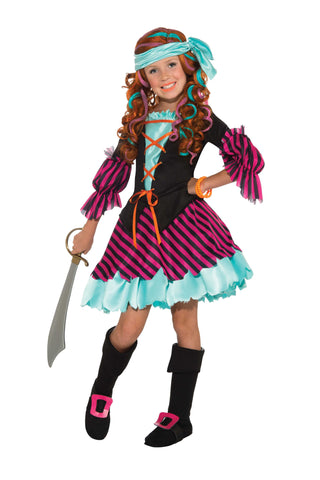 Girl's Salty Taffy Pirate Costume By Rubie's