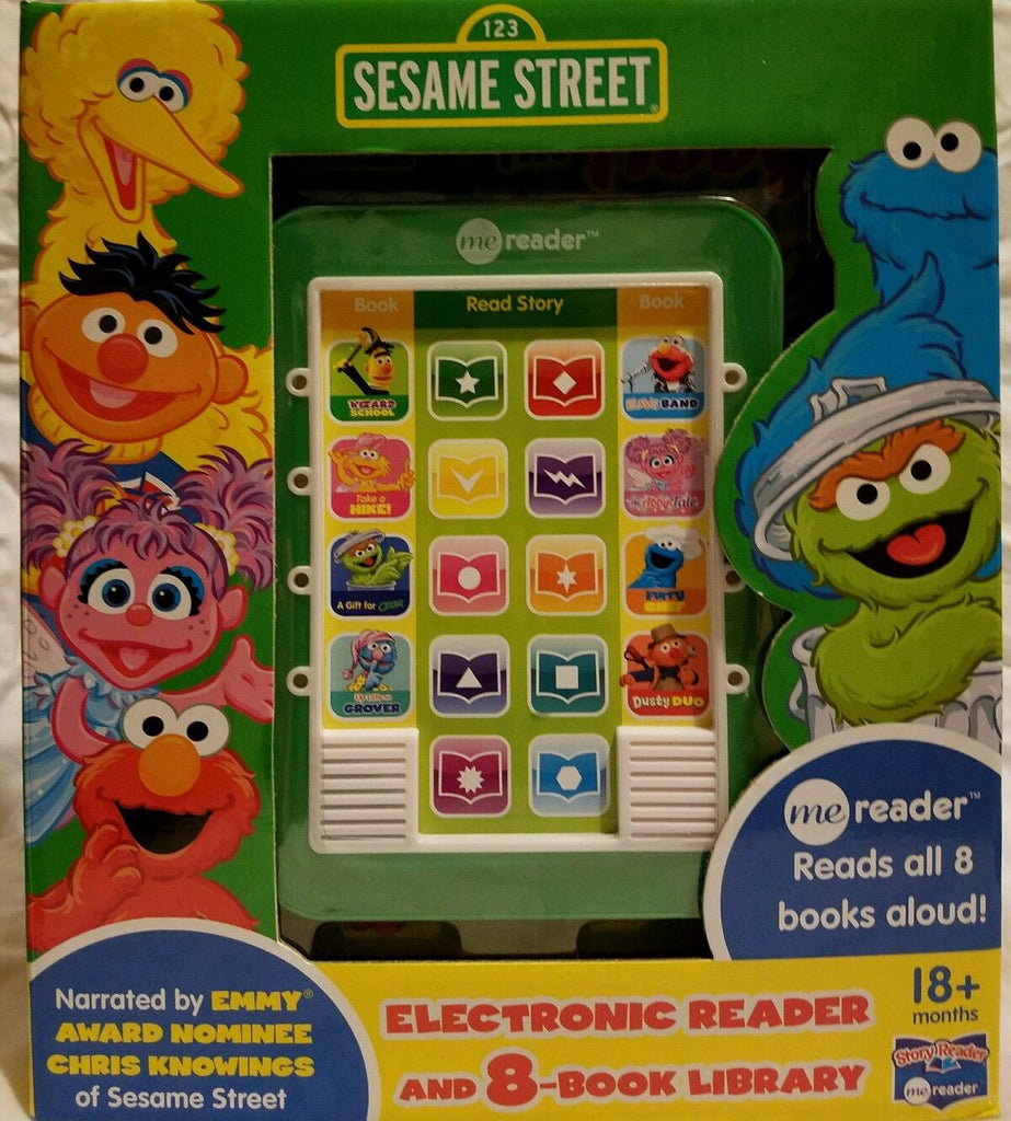 Sesame Street Me Reader Jr : Electronic Reader and 8-Book Library (2013,...
