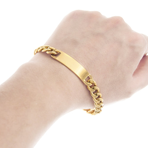Gold Chain Bar Bracelet