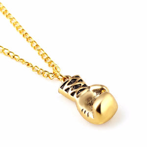 Gold Boxing Necklace